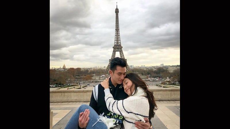 Natasha Wilona dan Putra Venna Melinda - Liburan di Paris