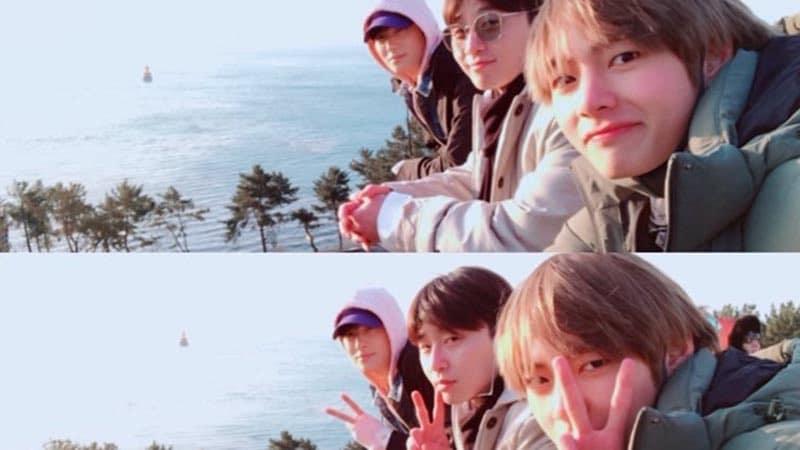 Berlibur Bersama V BTS dan Park Hyung Sik