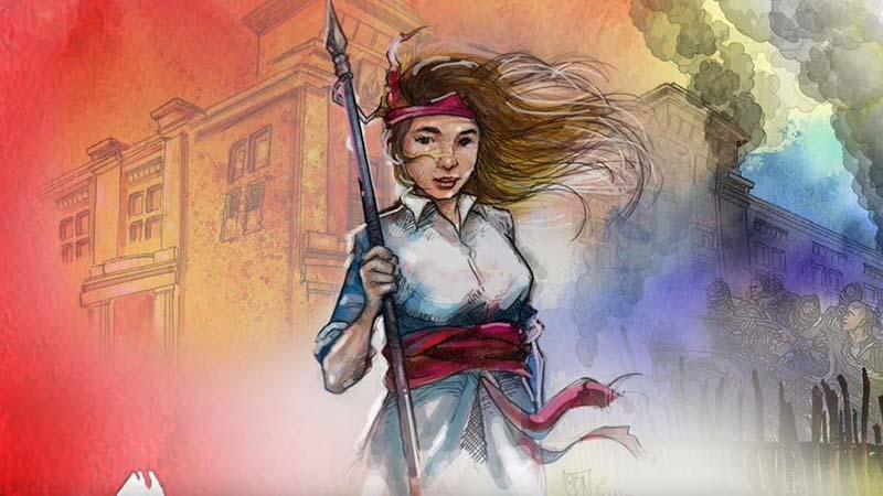 Biografi Martha Christina Tiahahu - Sketsa Martha Christina Tiahahu