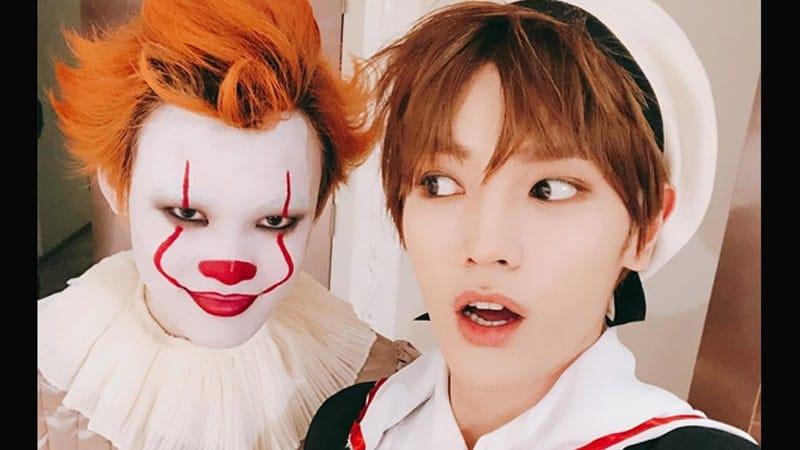Taeyong dan Pennywise - Di Pesta Halloween SM