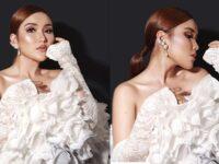 Foto-Foto Ayu Ting Ting - Dress Rumbai Putih