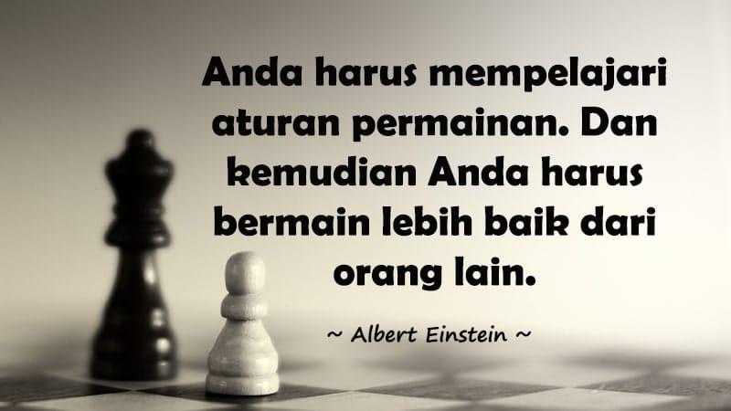 Kata-Kata Bijak Albert Einstein - Mempelajari Aturan Permainan
