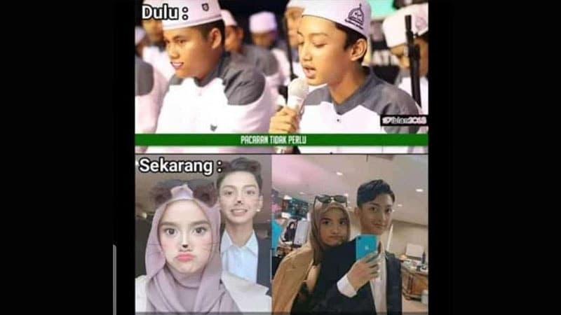 Meme Kedekatan Azmi dan Wirda Mansur