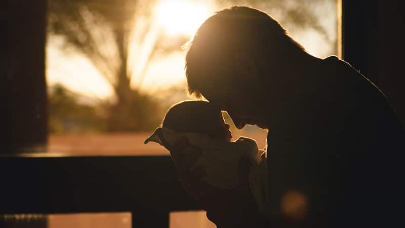 Kata-Kata Mutiara Bijak Bersyukur - Siluet Bapak dan Anak