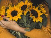 Kata Mutiara Wanita Tegar - Memeluk Bunga Matahari