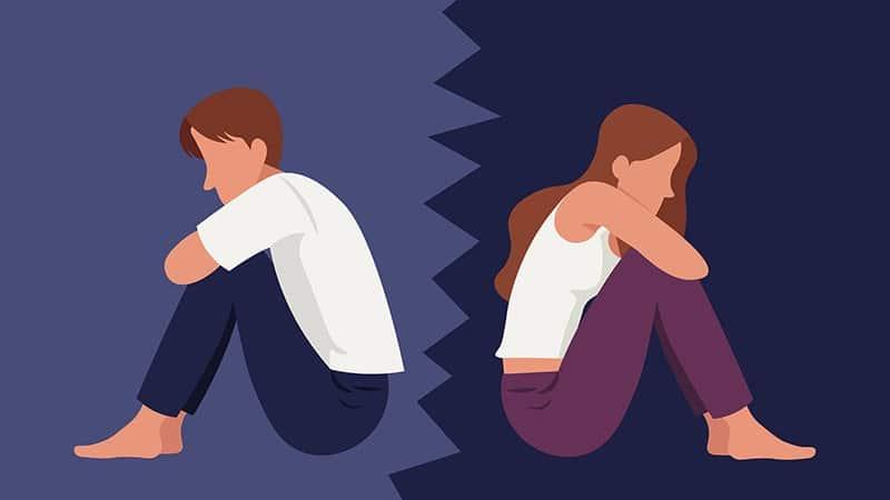 Ilustrasi Marahan dengan Pasangan